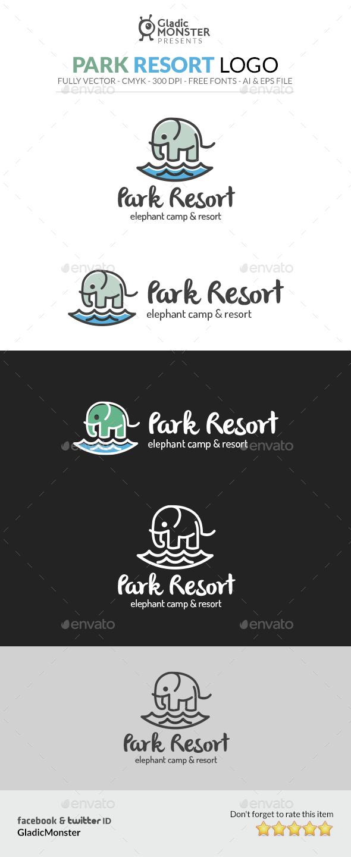 Park Resort Logo - Animals Logo Templates