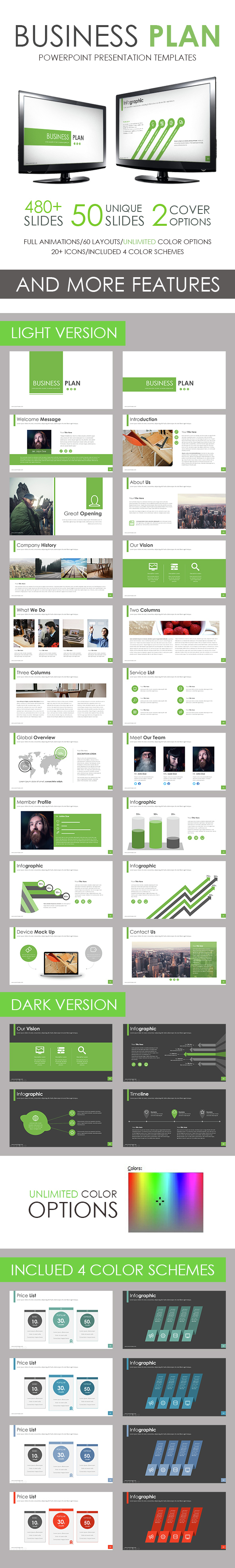 Business Plan PowerPoint Template - Business PowerPoint Templates