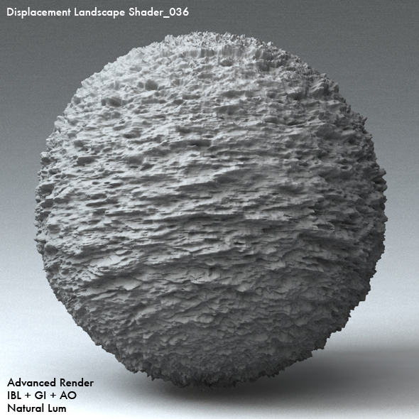 Displacement Landscape Shader_036 - 3DOcean Item for Sale