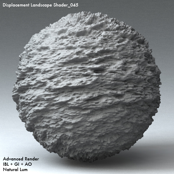 Displacement Landscape Shader_045 - 3DOcean Item for Sale