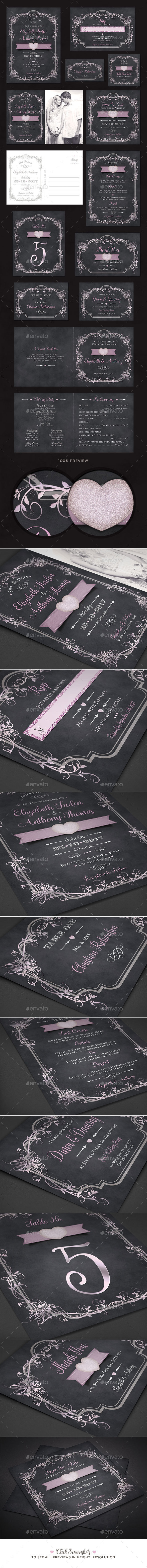 Romantic Wedding Pack - Weddings Cards & Invites