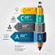Education Pencil Staircase Infographics Template. - GraphicRiver Item for Sale