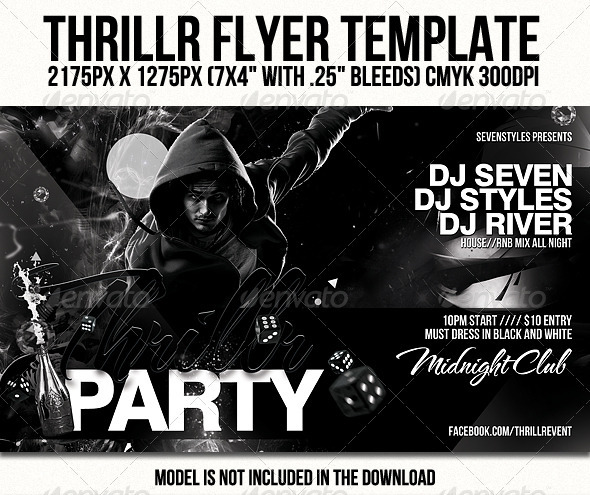 Thrillr Flyer Template - Clubs & Parties Events
