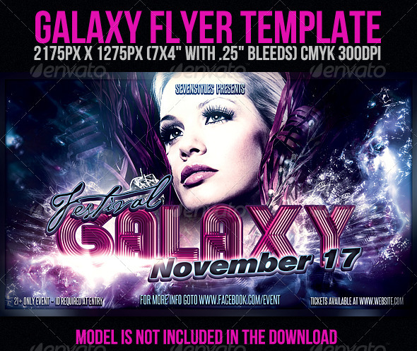 Galaxy Flyer Template - Clubs & Parties Events