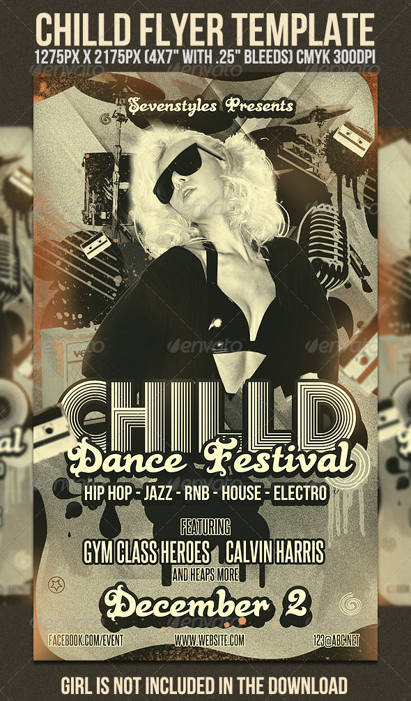 Chilld Flyer Template - Clubs & Parties Events
