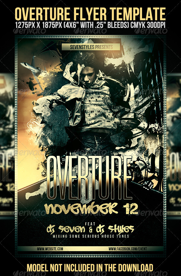 Overture Flyer Template - Clubs & Parties Events