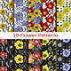 Set of Ten Flower Patterns - GraphicRiver Item for Sale