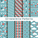 Set of Ten Valentine Patterns - GraphicRiver Item for Sale