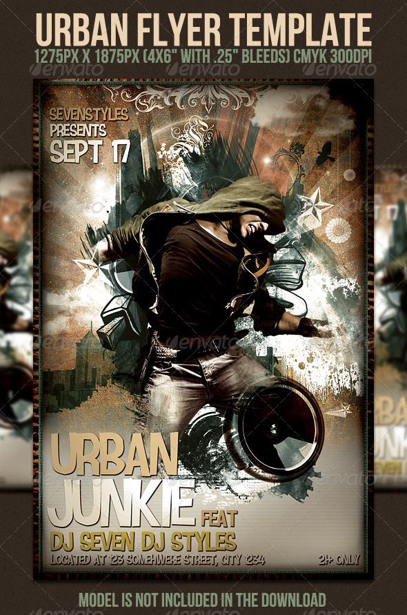 Urban Flyer Template - Clubs & Parties Events