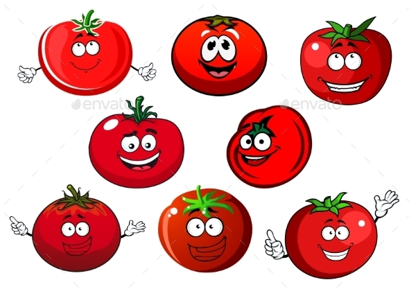 Ripe Isolated Red Tomato Vegetables - Food Objects