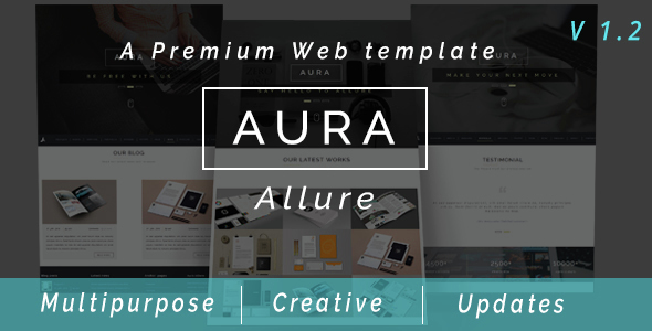 Aura Allure - Multipurpose Premium Muse Web Template - Creative Muse Templates