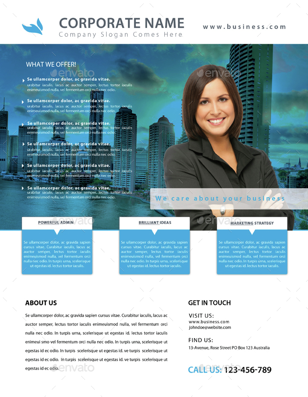 Corporate Flyer Bundle (4 in 1) by amirgraphix   GraphicRiver