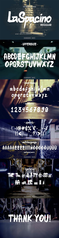 LaSpacino Typeface - Hand-writing Script