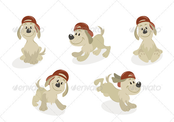 Cartoon Dog Mascot Set - Animals Characters