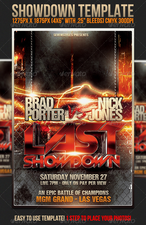 Showdown Flyer Template By Sevenstyles  Graphicriver