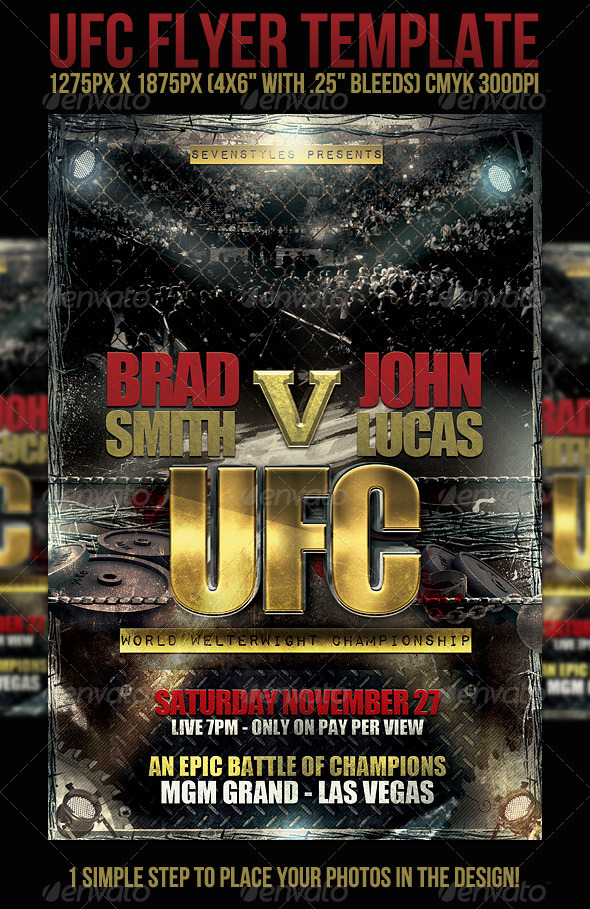 Ufc Flyer Template By Sevenstyles  Graphicriver