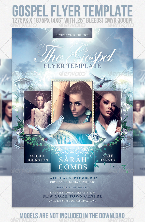 gospel flyer template church flyers