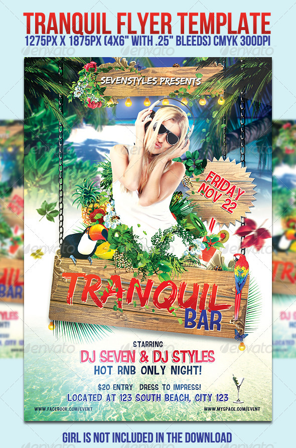 Tranquil Flyer Template - Clubs & Parties Events