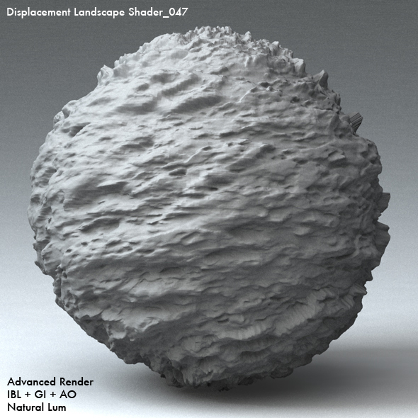 Displacement Landscape Shader_047 - 3DOcean Item for Sale