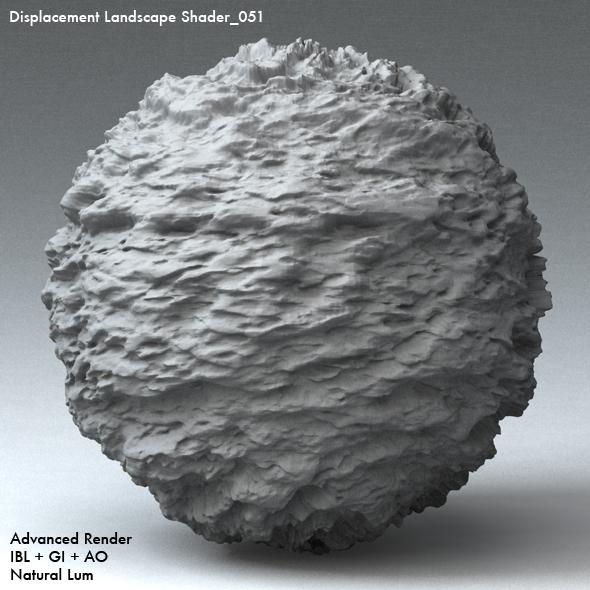 Displacement Landscape Shader_051 - 3DOcean Item for Sale