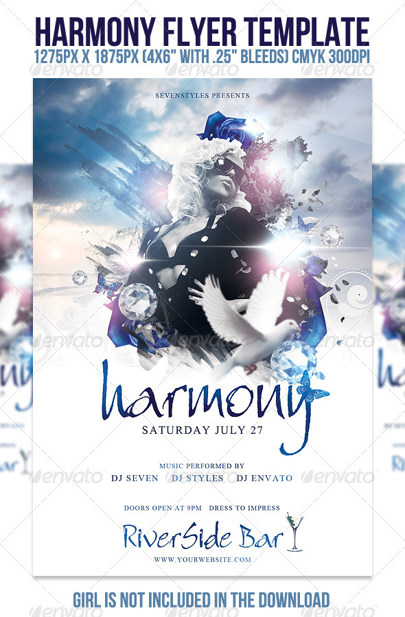 Harmony Flyer Template - Clubs & Parties Events
