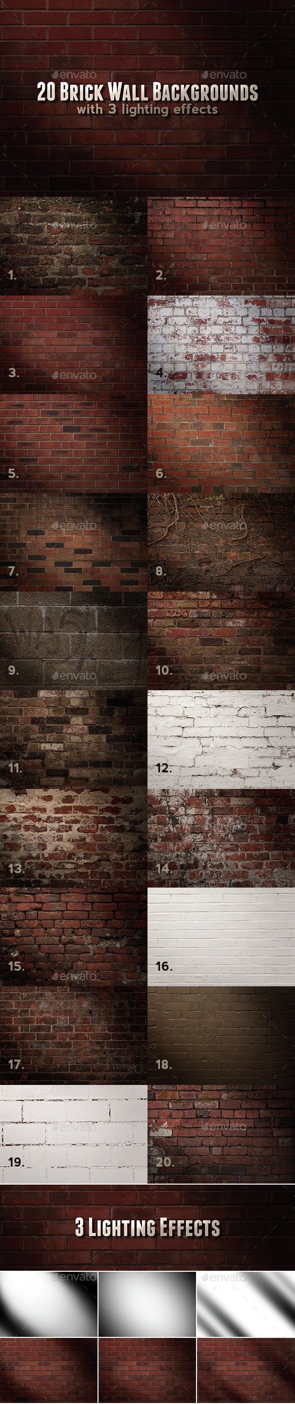 Brick Wall Backgrounds - Stone Textures