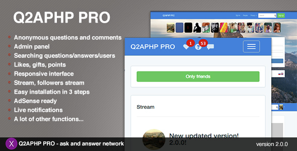 Q2APHP PRO - q&a social network - CodeCanyon Item for Sale