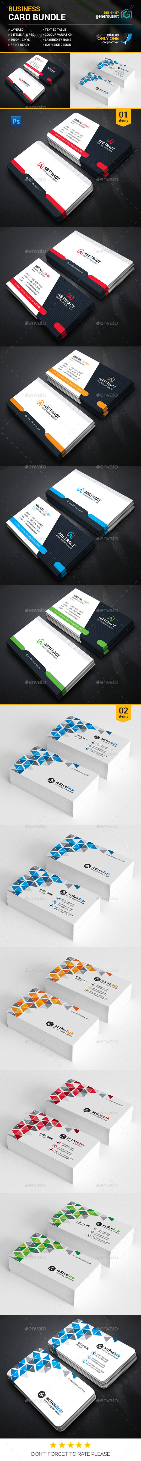 Creative Business Card Bundle 2 in 1 - Corporate Business Cards