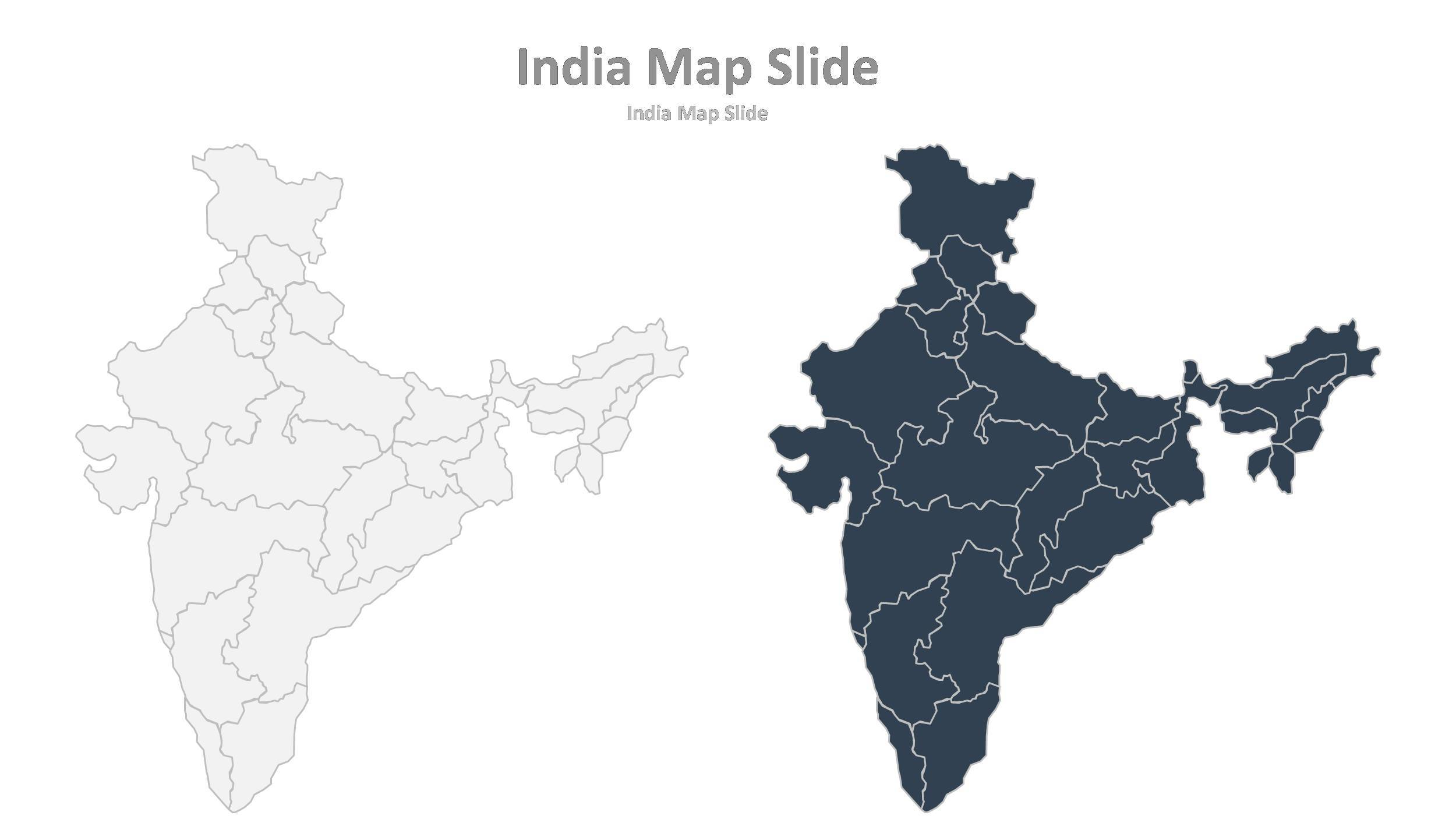 Smart solutions powerpoint presentation template by for India map ppt template