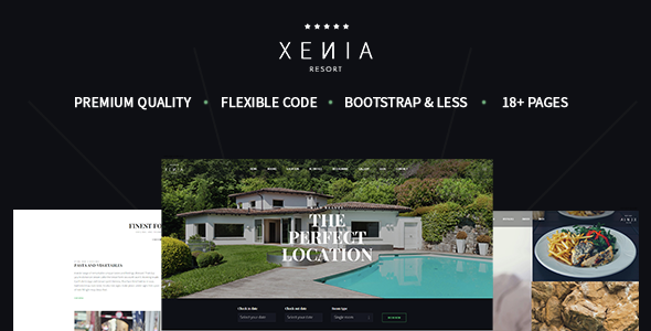 HOTEL XENIA - Hotel & Resort Bootstrap Template - Travel Retail