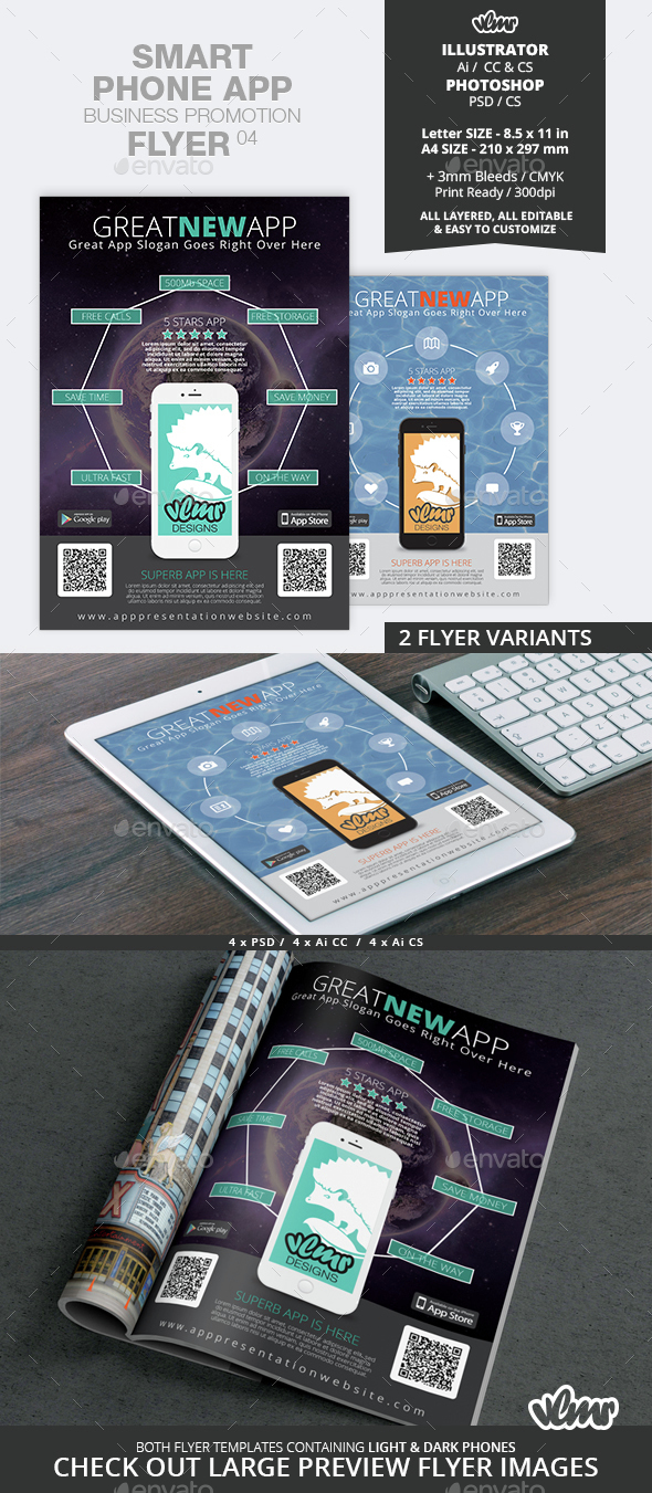 Smart Phone App Business Promotion Flyer 04 - Commerce Flyers