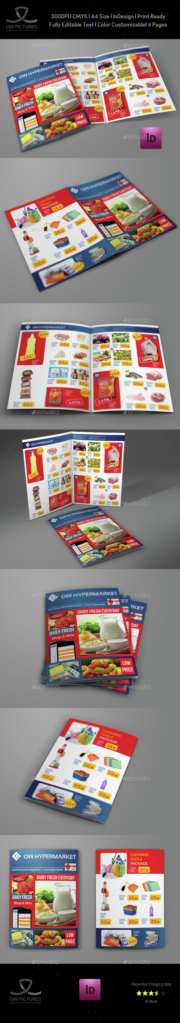 Supermarket Products Catalog Bi-Fold Brochure Vol.2 - Catalogs Brochures