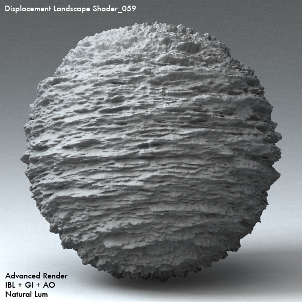 Displacement Landscape Shader_059 - 3DOcean Item for Sale