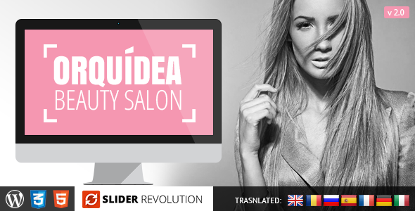 Orquidea Responsive WordPress Theme - Health & Beauty Retail