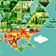 Cartoon map of North America - GraphicRiver Item for Sale