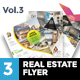 3 Clean Premium Real Estate Flyer Vol.3 - GraphicRiver Item for Sale