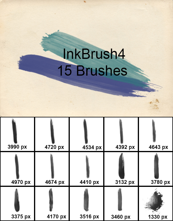 InkBrush 4 - Grunge Brushes