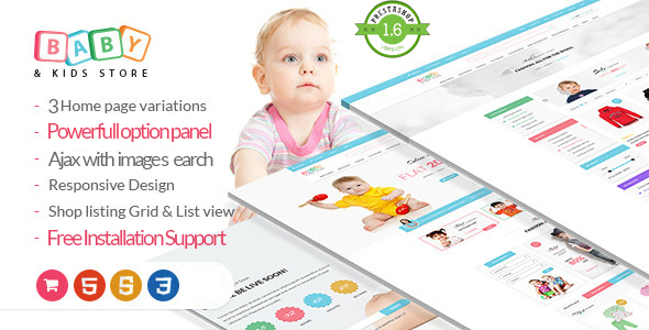 Baby Store-PrestaShop theme - Fashion PrestaShop