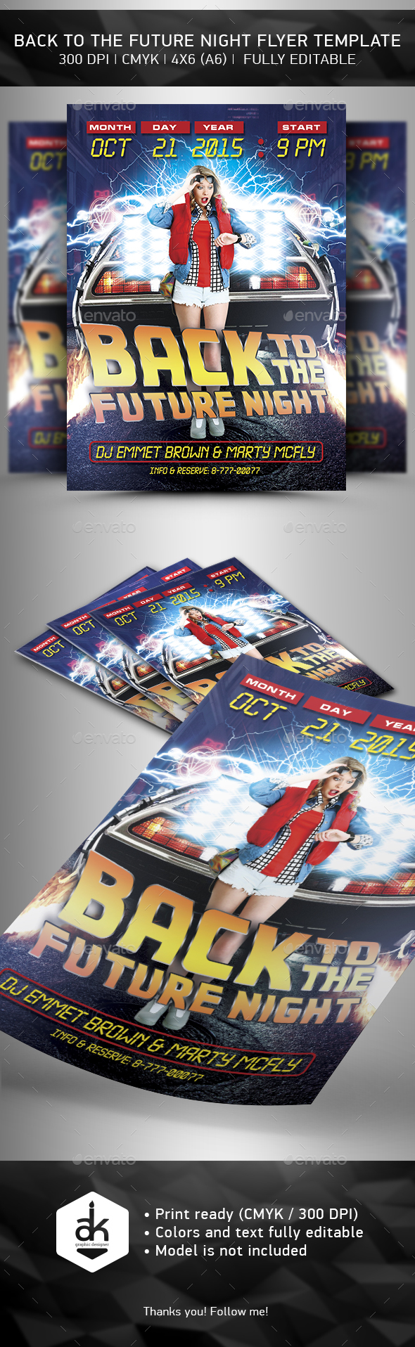 Bak to the  Future Flyer Template - Events Flyers