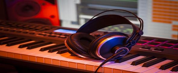 Photodune 5382235 headphones in a home studio m
