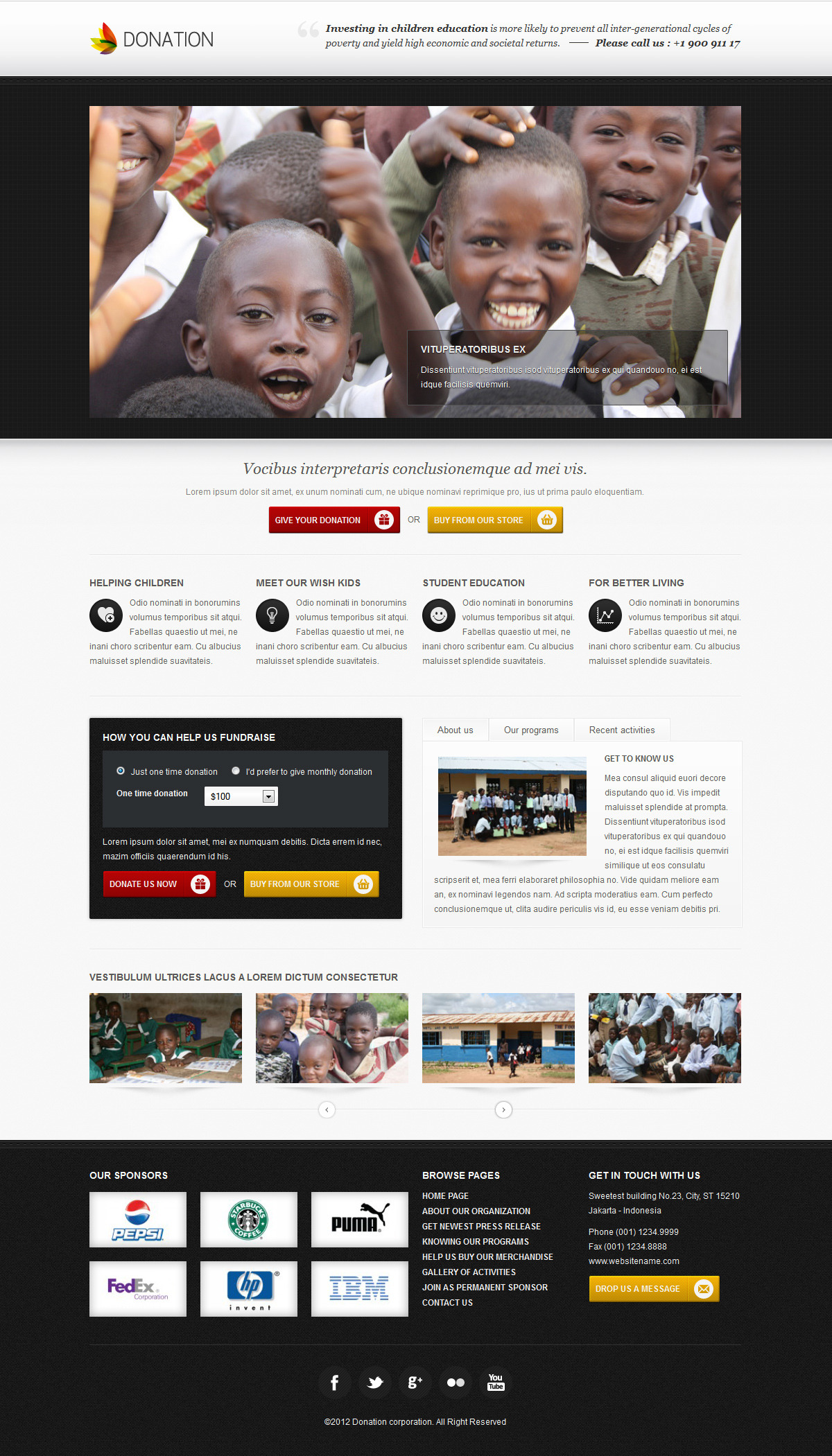 Donation landing page template - responsive by iWebStudio ...