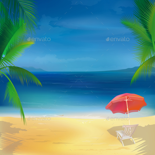 Tropical Beach Background - Travel Conceptual