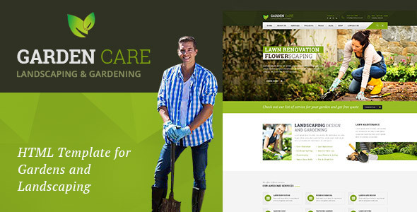 Garden Care – Gardening and Landscaping HTML Template
