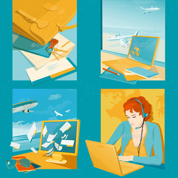 Travel Agency Illustrations - Travel Conceptual