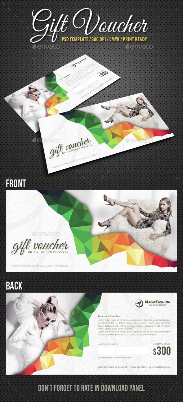 Elegant Gift Voucher V04 - Cards & Invites Print Templates