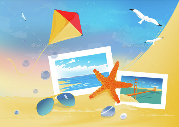 Summer Beach Background - Travel Conceptual