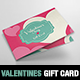 Valentine's Day Gift Card / Coupon Template - GraphicRiver Item for Sale