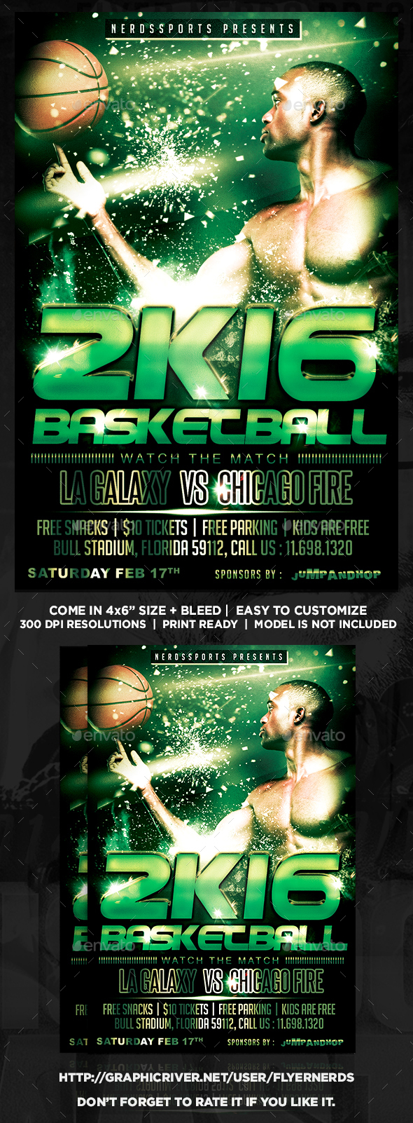 Basketball Championships Sports Flyer - Sports Events