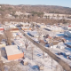 Aerial of Small Town with Snow - VideoHive Item for Sale