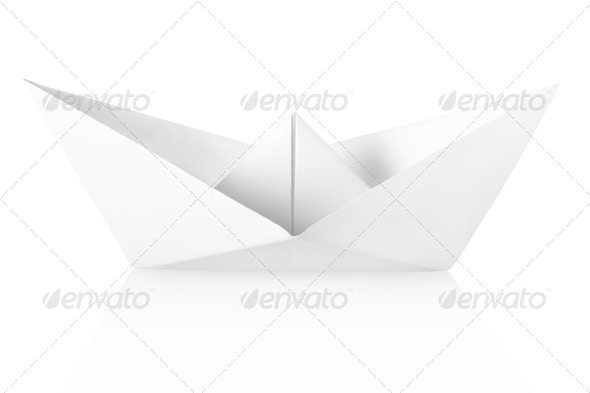 Paper boat - Stock Photo - Images